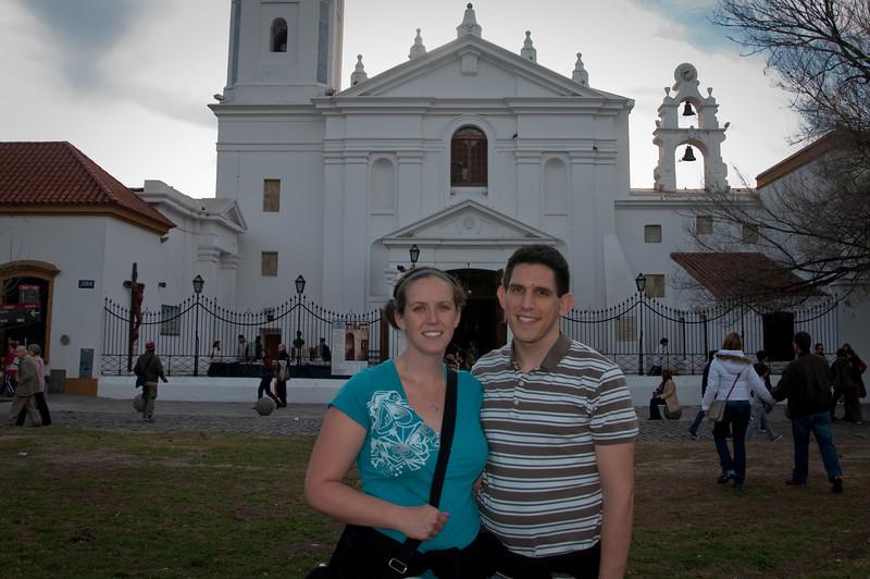 Sasha and I outside the church.