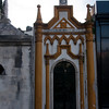 Inside the Recoleta Cemetery in Buenos Aires, which was filled with rows of masuoleums. I liked the way the gold stood out on this row.