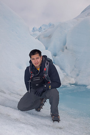 Photo of me by John Lynn On Perito Moreno Glacier, El Calafate, Argentina