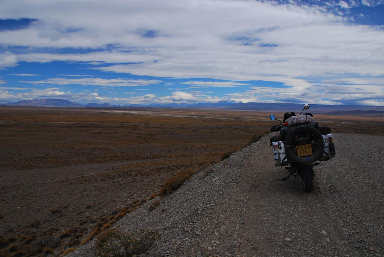 Ruta 40,  just north of Baja Caracoles