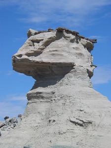 De Sfinx, Parque Provincial Ischigualasto, Argentinië.