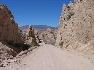 Ruta 40, Quebrada de las Flechas, Argentinië.