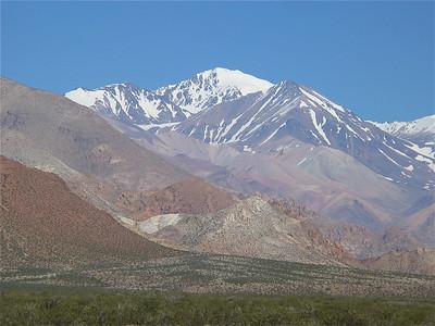 Het filmdecor van Seven Years in Tibet, Uspallata, Argentinië.