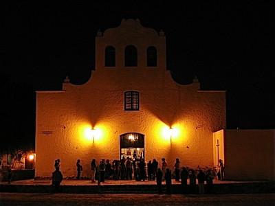 De avondmis in Cachi, Argentinië.