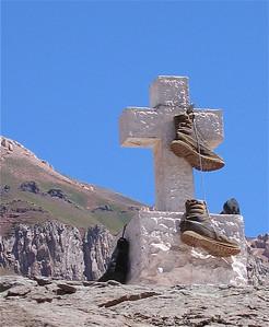 Zij die de top nooit haalden.  Mount Aconcagua, Argentinië.