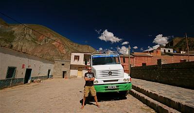Me and my truck. Iruya, Quebrada de Humahuaca, Salta, Argentinië.