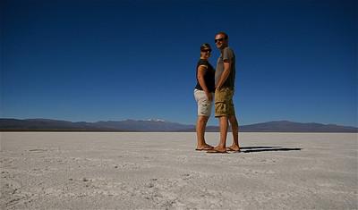 Teamfoto @ Salinas Grandes. Jujuy, Argentinië.