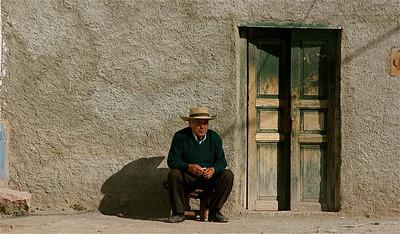 Zijn thuis. Iruya, Quebrada de Humahuaca, Salta, Argentinië.