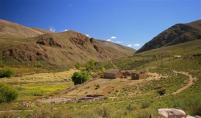 Wonen in Chaupi Rodeo. Quebrada de Humahuaca, Jujuy, Argentinië.