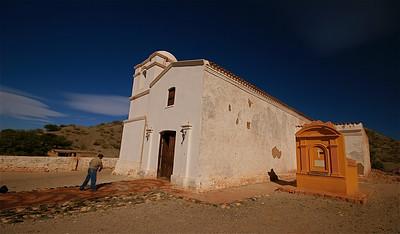 Iglesia La Merced aan de Ruta 40. Valle Calchaquies, Argentinië.