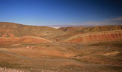 Ruta 52 naar de Salinas Grandes. Quebrada de Humahuaca, Jujuy, Argentinië.
