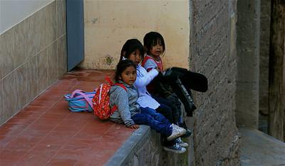 Drie kleine kleutertjes ... Iruya, Quebrada de Humahuaca, Salta, Argentinië.