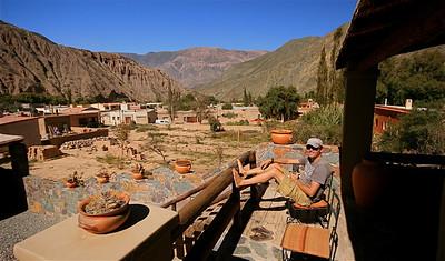 Terrazas de la Posta - onze accommodatie in Purmamarca. Quebrada de Humahuaca, Jujuy, Argentinië.