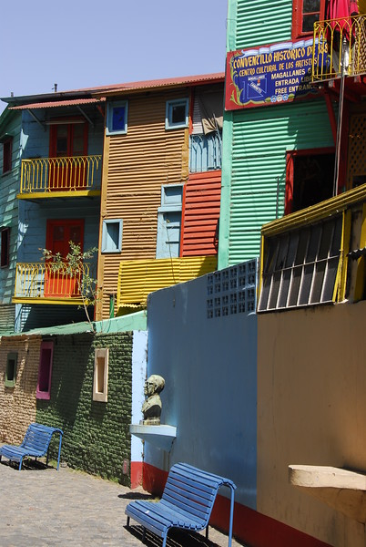 Coloured houses in Caminito,Buenos Aires,Argentina