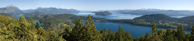 Panorama of The Nauel Huapi Lake from Cerro Campanario,San Carlos de Bariloche,Agentina
