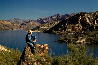 Gary beside a small lake, near Phoenix, Arizona - 1986-87