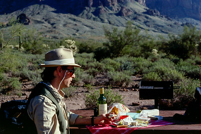 Gary; picnic in the Superstition Mountains(?) - near Phoenix, Arizona - Christmas, 1986