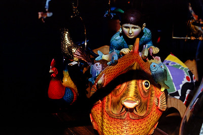 Art figure, child on the back of a fish. Seen in a shop, Phoenix Arizona (or was it Scottsdale?), 1987.