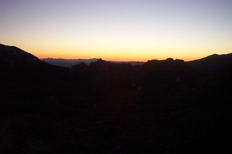 sunset on the Lemmon
