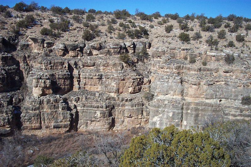 Jacks Canyon near Winslow Arizona. Notice climber in lower center.