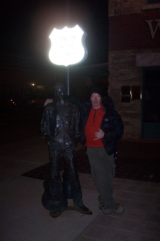 I was standing on a corner in Winslow Arizona, such a fine sight too see.
