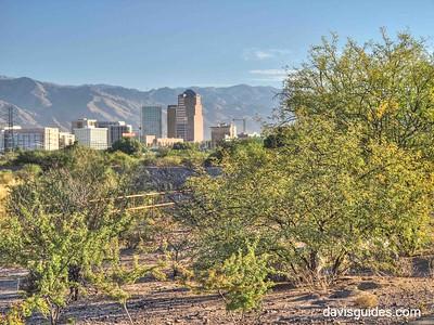 Tucson skyline from Santa Cruz River Trail
