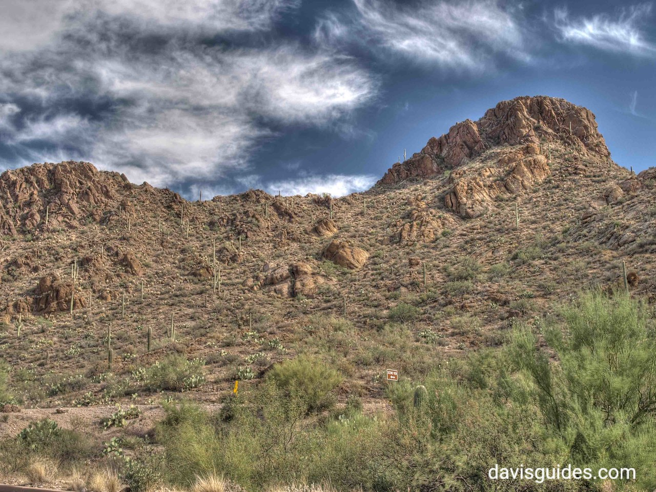 Rugged landscapes in Tucson Mountain Park