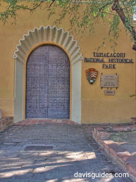 Entrance to Tumacacori Mission National Historical Park