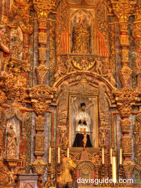 Altar in Mission San Xavier del Bac in Tucson