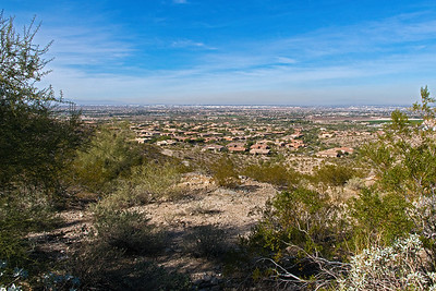 Looking at city of Phoenix from South Mountain
