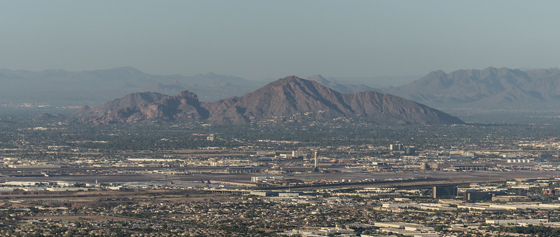 Phoenix Arizona, shot from South Mountain