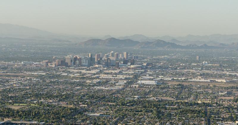 Phoenix, Arizona, shot from South Mountain