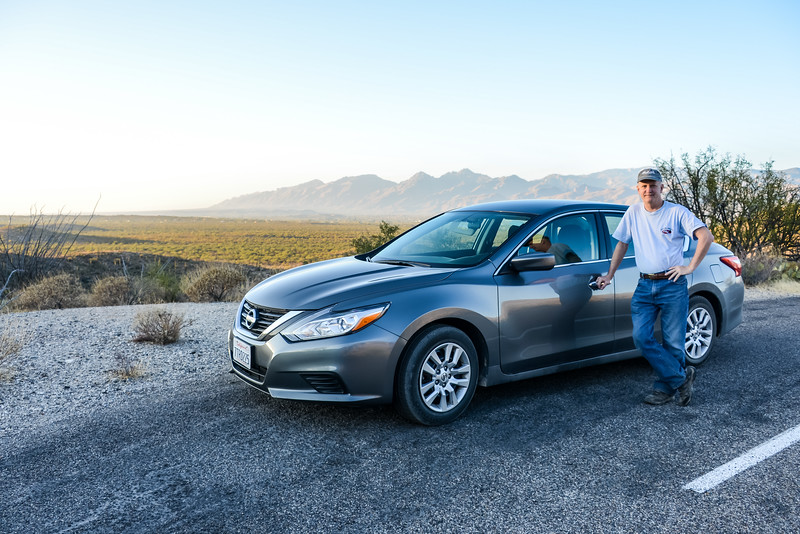 Desert ride (2017 Nissan Altima) at Saguaro National Park (East) - December 2017