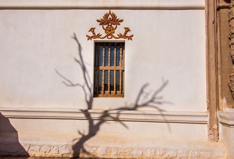 Window at Mission San Xavier del Bac, Tucson, AZ - December 2017
