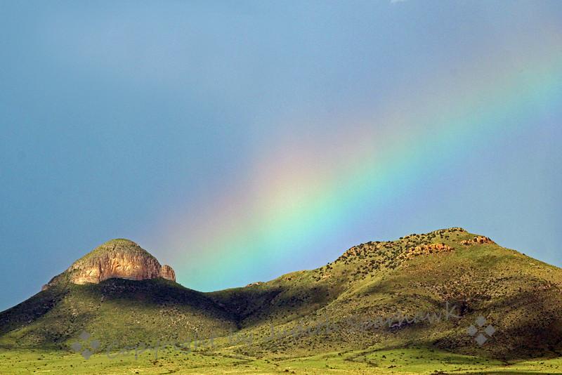 Rainbow in the Desert