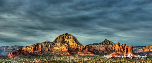 Sedona, Arizona at sunset December 1, 2012