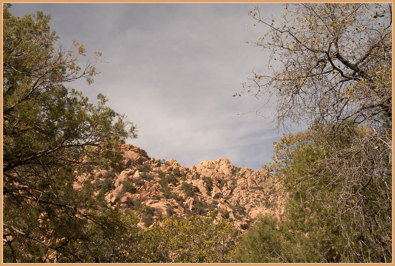Cochise Stronghold in the Dragoon Mountains---Cochise was born in these mountains and somewhere in this area he was buried.