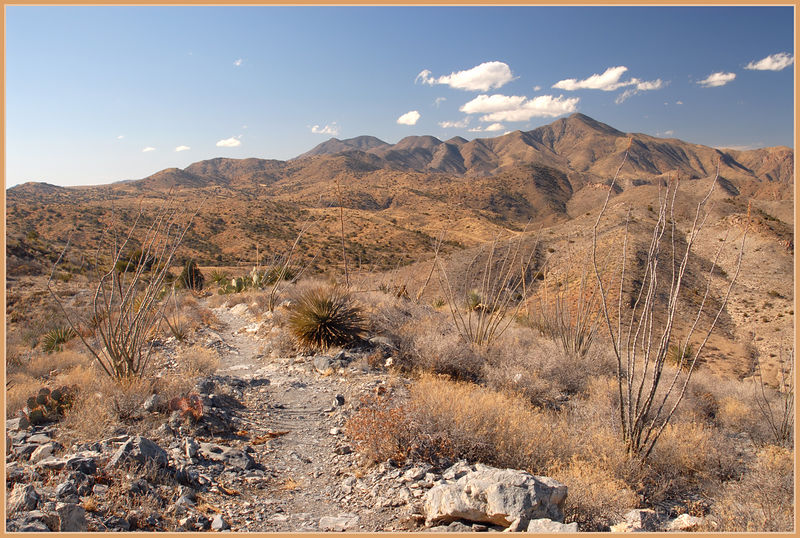 The Overlook trail from Ft. Bowie. The trail is about a mile and a half but the views are spectacular.