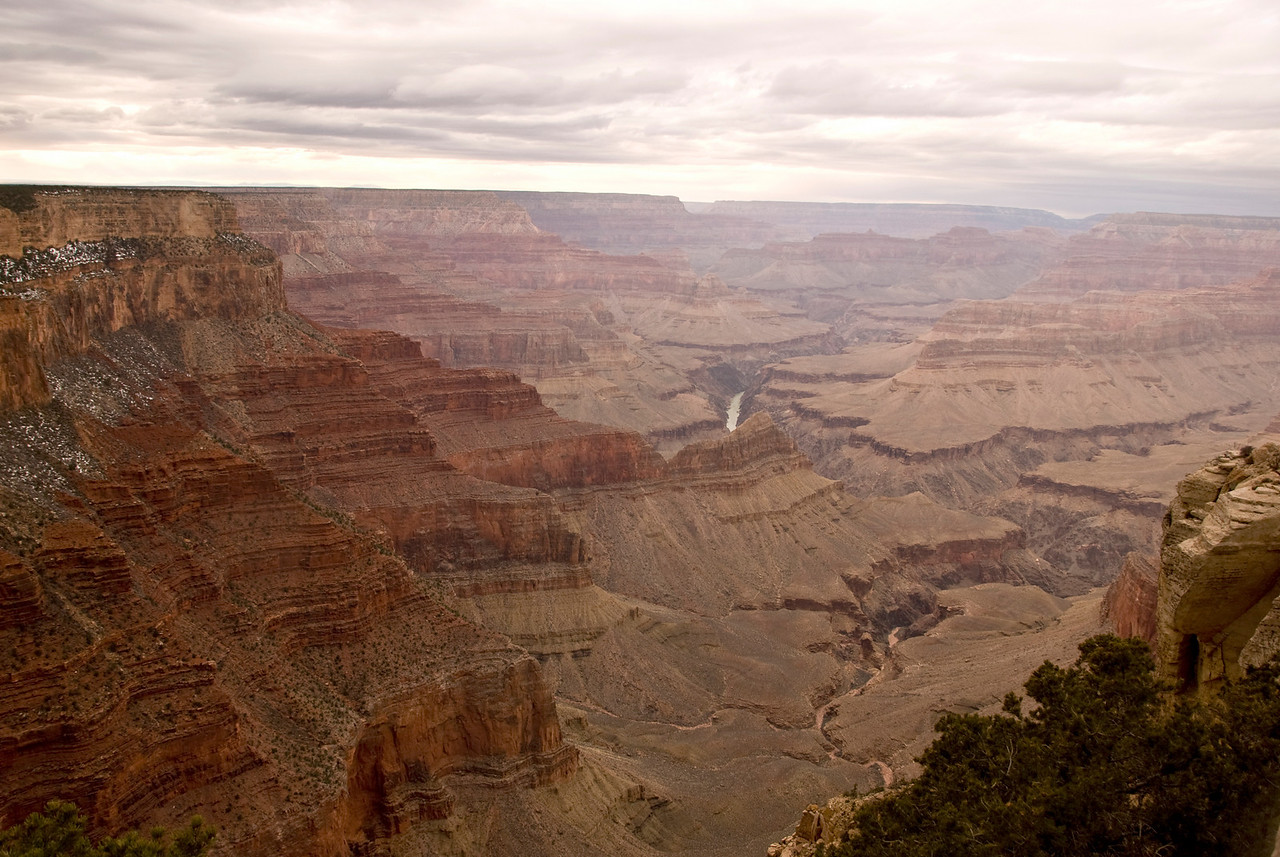 Rainy day in the Grand Canyon