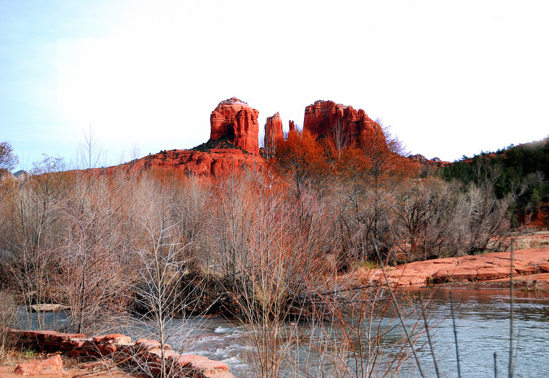 Cathedral Rock from Red Rock Crossing in Sedona