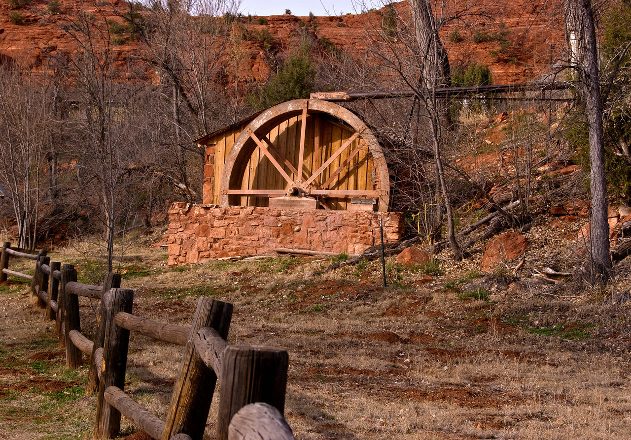 Old mill at Red Rock Crossing, Sedona