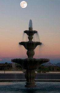 Fountain on the main street of  Fountain Hills