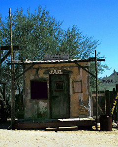 Jailhouse at Lost Dutchman's Gold Mining Town  near Phoenix, Arizona