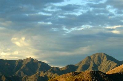 McDowell Mountains between Scottsdale and Fountain Hills  Shot from the Scottsdale side  Arizona