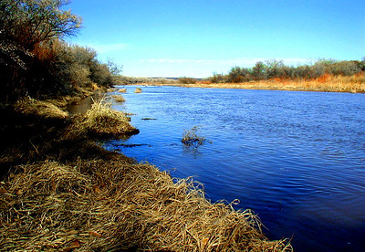 Winter, Rio Grande   Albuquerque is in Central New Mexico  Southwest United States