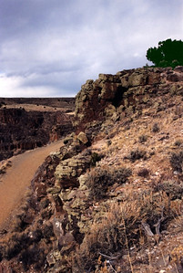 Path into the Rio Grande Gorge, winter  Taos in Northern New Mexico