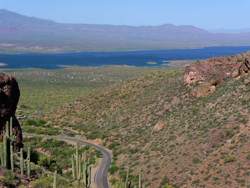 Roosevelt Lake from Tonto National Monument / Cliff Dwellings on 5/16/2011.