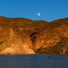 Moonrise over Canyon Lake 1-7-12
