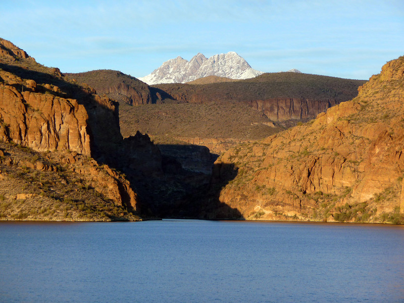 12/15/11 Canyon Lake from the Apache Trail, with Four Peaks in the background.