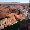 Glenn Canyon Bridge over the Colorado River. When finished, the Glen Canyon Bridge was in itself a marvel of engineering: 1,271 feet (387 m) long and rising 700 feet (210 m) above the river, it was the highest bridge of its kind in the United States and one of the highest in the world.